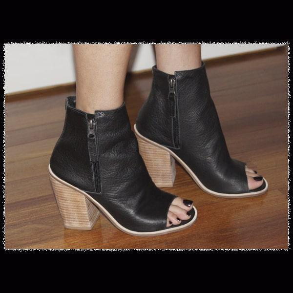 7c60b6e0350 Ankle boot + peep toe
