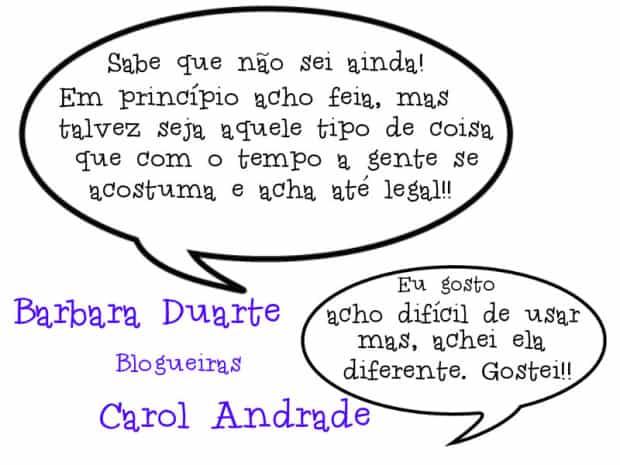 Barbara Duarte e Carol Andrade - blogueiras
