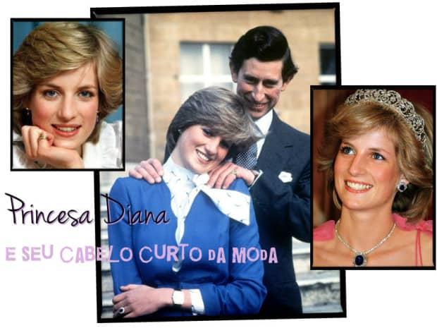 Princesa Diana e seu cabelo curto