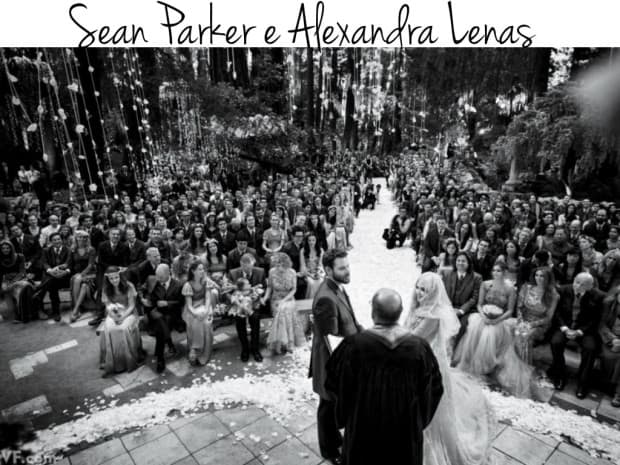 Sean Parker e Alexandra Lenas wedding