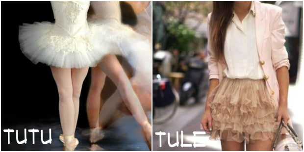 saia de tule tutu