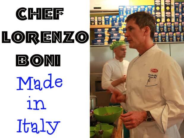 Chef italiano Lorenzo Boni
