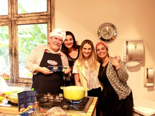 Evento Barilla, Renata Ruiz, Claudir, Liliane Ferrari e Luciana Micheletti