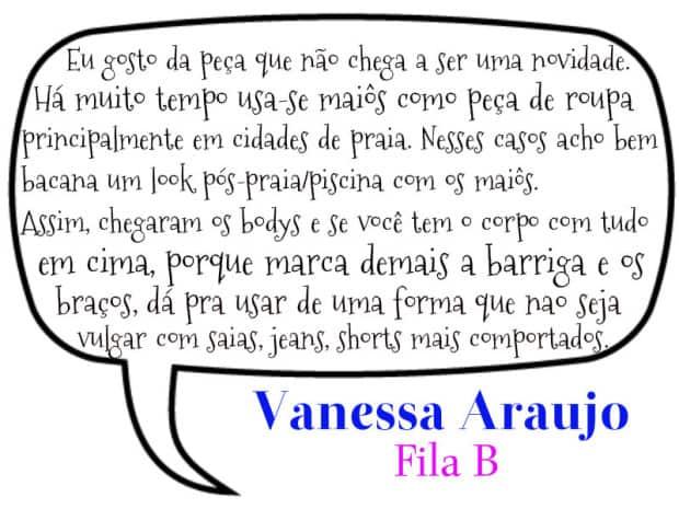 Vanessa Araújo para DQZ