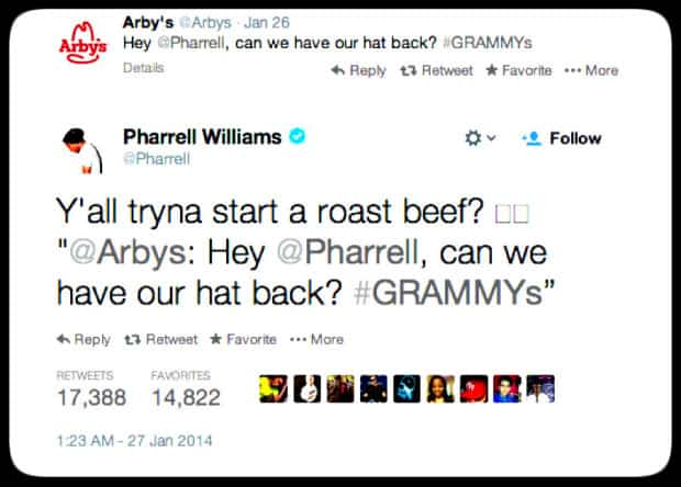 arbys - pharrel willians - DQZ