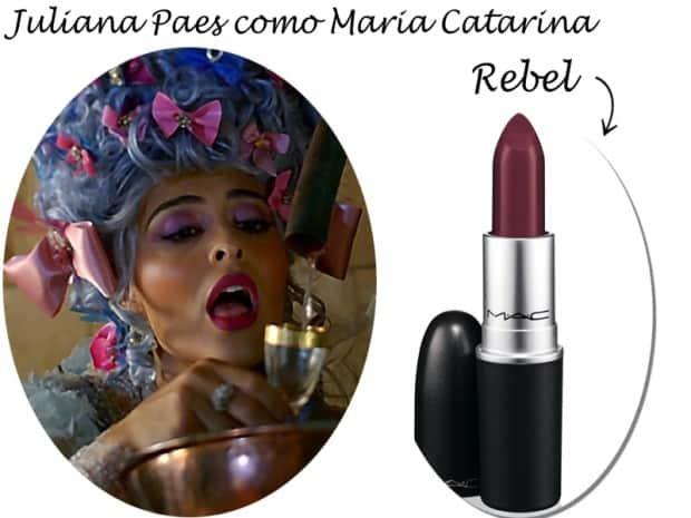 Juliana Paes como Maria Catarina - DQZ - Batom Rebel