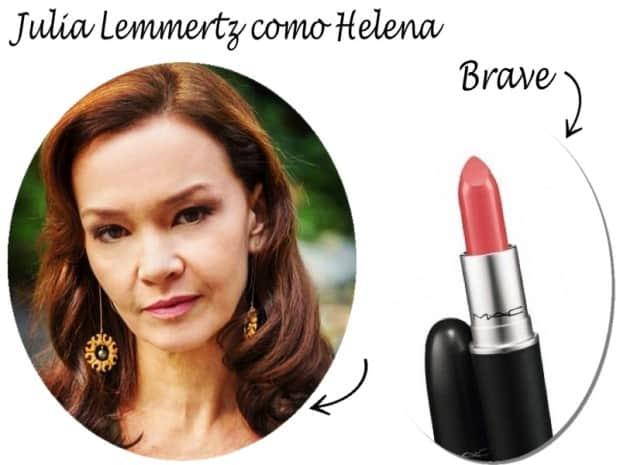 julia lemmertz como Helena - Batom Brave