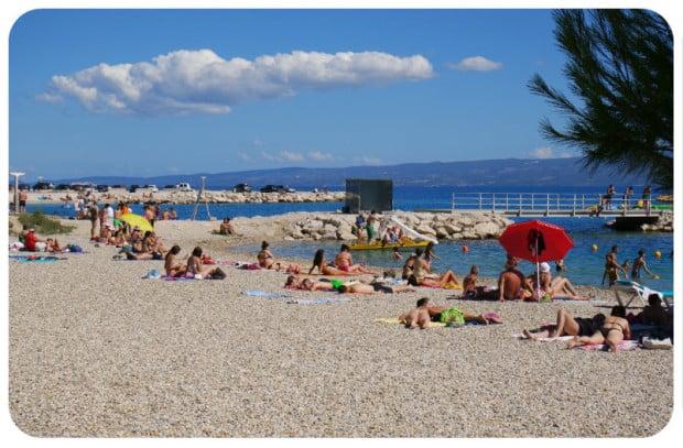 praia em Split - Croácia - DQZ