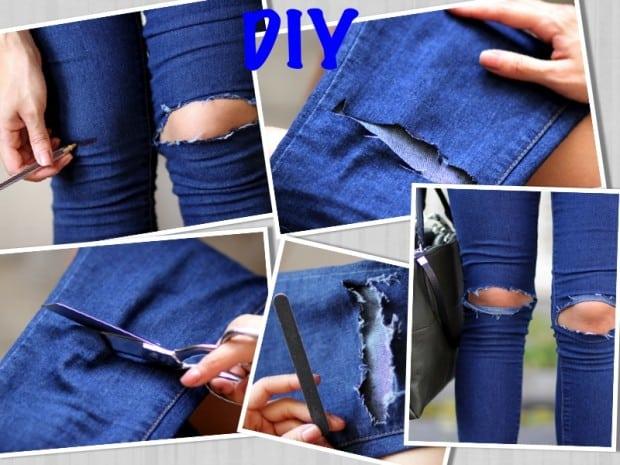 DIY - Jeans rasgado
