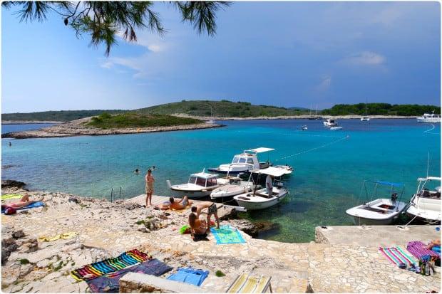 Hvar - Europa - Croácia - Praia Mlini