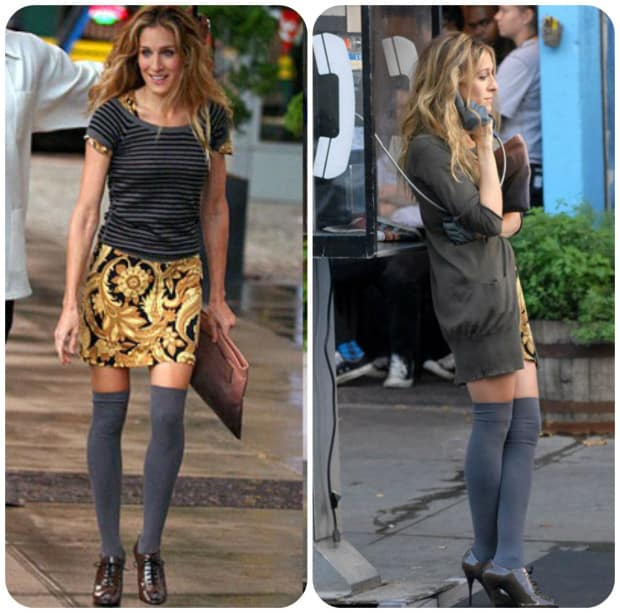 knee high socks - sarah jessica parker
