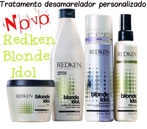 Linha completa Redken Blon Idol