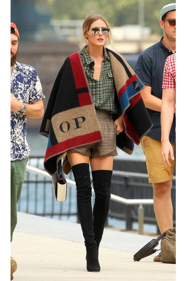 Olivia Palermo going to a photo shoot
