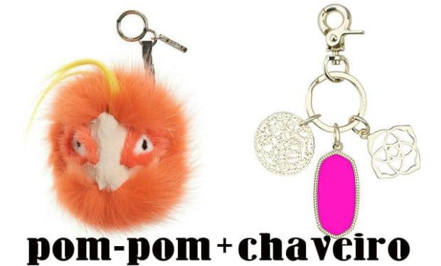 pom-pom + chaveiro 2
